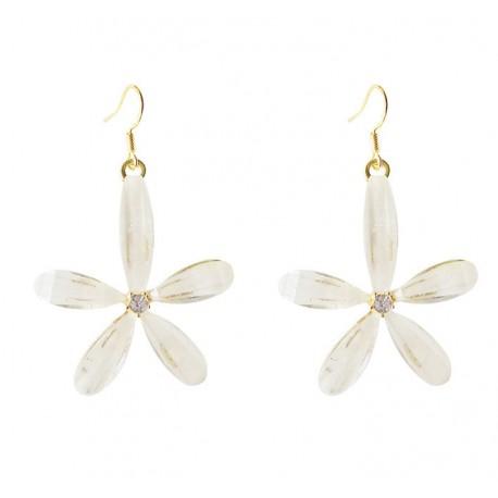 Korean fashion large flower Acrylic Fairy Earrings