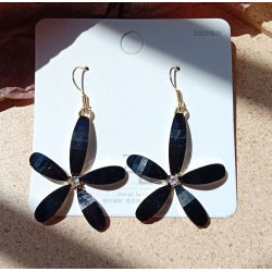 Korean fashion large flower Acrylic Fairy Earrings
