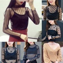 Summer Women Lace Floral Embroidery Blouses Shirt Black white Sexy See-through mesh Blouses Transparent women Shirts Ladies tops