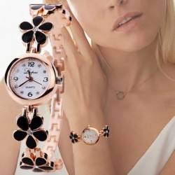 Lvpai New Luxury Casual Fashion Bracelet Watch Flower Strap Wristwatch Dress Elegance Quartz Watch For Women Gift Watch