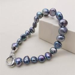 DMBFP155 Natural Freshwater Pearl Bracelet Black/White/Pink/Purple Pearl Bracelet Fine Pearl Jewelry For Women