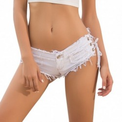 2021 New Summer Women's European and American Jeans Denim Shorts Hot Pants Low Waist Sexy Nightclub Costume