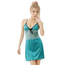 Flora Ice Lace Nightwear Dress (Green)