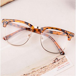 Half-frame Glasses Frame Men Women Optical Glasses With Clear Glass