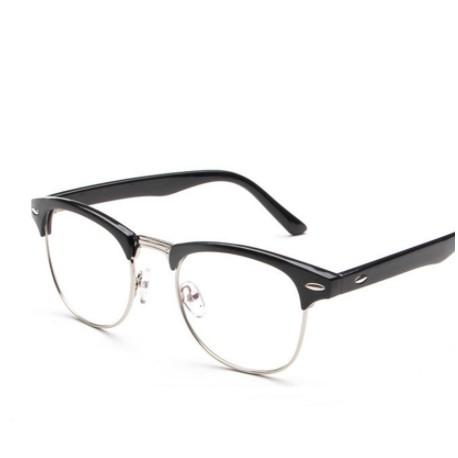 f59fc892822 Half-frame Glasses Frame Men Women Optical Glasses With Clear Glass