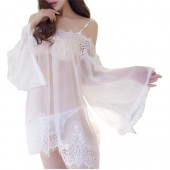 Cotton White Nightdress / Sleepwear