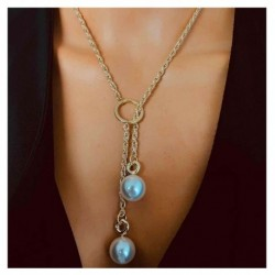 Personality Water Drop Pendant Necklace for Woman Party 2020 New Fashion Sexy Girls Simulated Pearl Clavicle Chain
