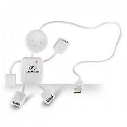 USB Hub 4 Port in 1 White Man Shape