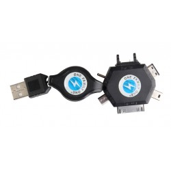6 in 1 Multi function USB Retractable Charger Cable