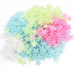 100 PCS Stars Glow In The Dark