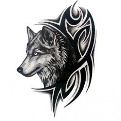 Wolf  Totem Flower Arm 3 D Dynamic Simulation Tattoo