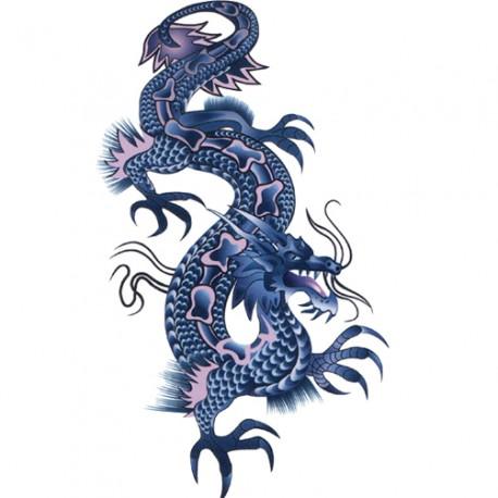 9380487c3 Waterproof Blue dragon Tattoo sticker