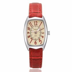 Leather Band Quartz Analog Wrist Watches