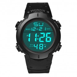 Waterproof Men's Boy LCD Digital Wrist Watch