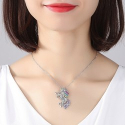 Fashion Gifts High Quality Animal Unicorn Rhinestone Necklace Girls Rainbow Necklaces & Pendants Women Accessories For Women