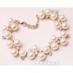 Alloy Pearl Chain & Link Bracelets