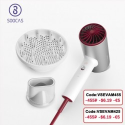 SOOCAS H5 Negative Ion Hair Dryer 1800W Professional Blow Dryer Aluminum Alloy Powerful Electric Dryer Cold Hot Air Circulating