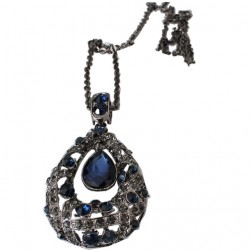 Long Necklace Water Drops Crystal For women