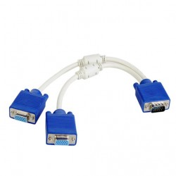 15 Pin D Sub RGB VGA Cable Splitter
