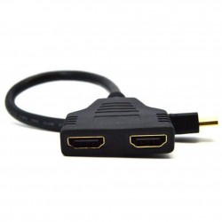 Cable Adapter Converter 0.3 M Length (Black)