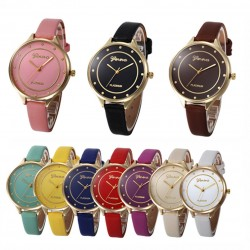 Bracelet Watch Women Fashion Casual Clock Women Faux Leather Watch