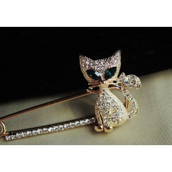 Green Kitten Women Wedding broocher