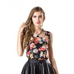 Elegant Sleeveless Colorful Blouse