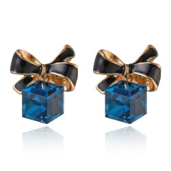 Fashion Cube Crystal Earrings