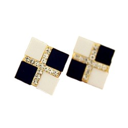 Korean Version Of The Small Square Earrings
