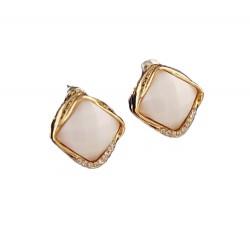 Korean Fashion Square Gemstone Earrings