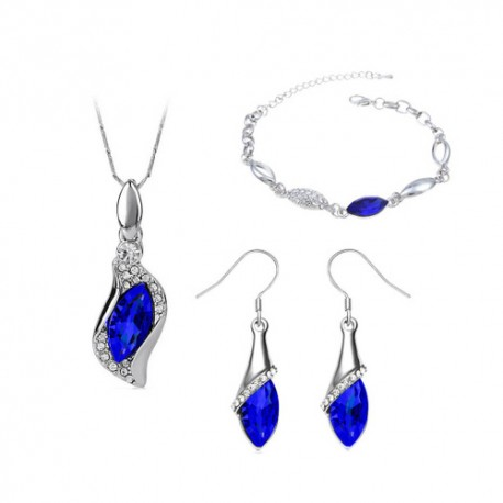 Austria Crystal Gemstone Jewelry Set