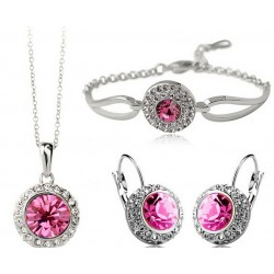 Gold Color Rhinestone Crystal Romantic Moon Jewelry  set