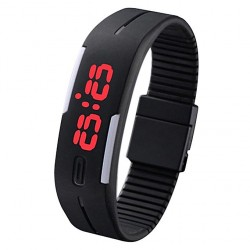 Waterproof  Silicone LED Sport Touch Digital Wrist Watch