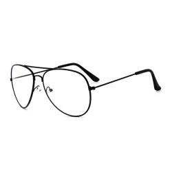 Vintage Pilot Aviator Sunglasses Clear Lens Glasses Geek