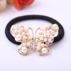 Pearls Butterfly Crystal Hair Band