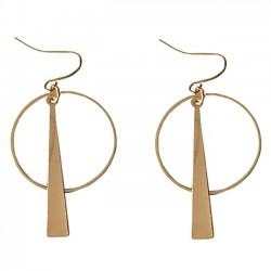 Big Round Sequins Pendant Drop Earrings