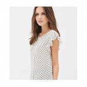 Casual Polka dots Women Top