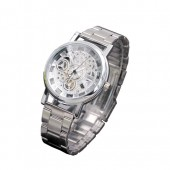 Men Luxury Steel Band Casual Skeleton Army Watches.