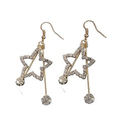 Korean Fashion Wild Long Star Earrings