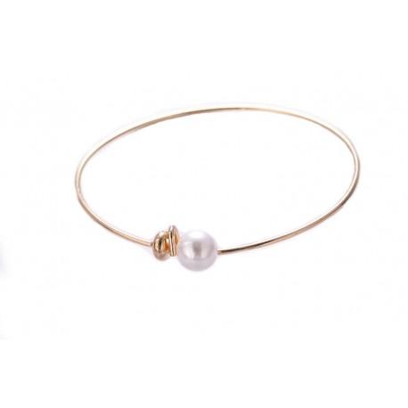 Pearl Ball Adjustable Cuff Bracelet.