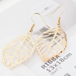 Gold Metal Leaves Earrings