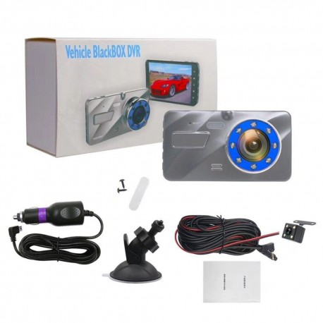 HD 3.5 inch driving recorder front and rear dual lens infrared night vision aluminum alloy shell car cam