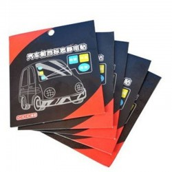 Car Electrostatic Front File Environmental Protection  3 Pieces Of  Stickers