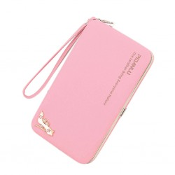Fashion Women Leather Purse Long Bifold Wallet Phone Coin Card Holders Hand bag