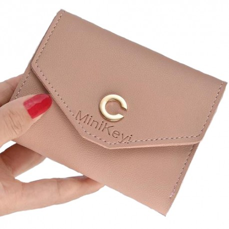 Ladies Short Simple Student Wallet Small Fresh Coin Purse Minikeyi Wallet