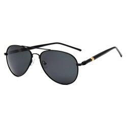 Hight quality Trendy Fashion Ultra Light Fancy Retro UV Large Frame Vintage Black Sunglasses