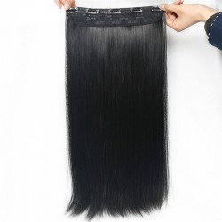 5 Clips in Hair  Extension wig  Matte Long False Straight Synthetic Hairpieces
