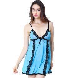 Women's nightshirt Lingerie Sleepwear Set Sheer Lace Chemise Night Baby doll Dress