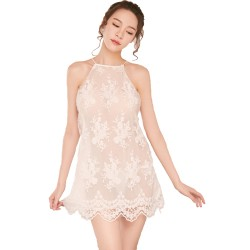 Lace split Sexy Strap Nightdress One Size Panties Suit Pajama Underwear For Women