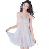 Sexy Lingerie Female Light Sexy Lace White Pajamas Nightdress For Women